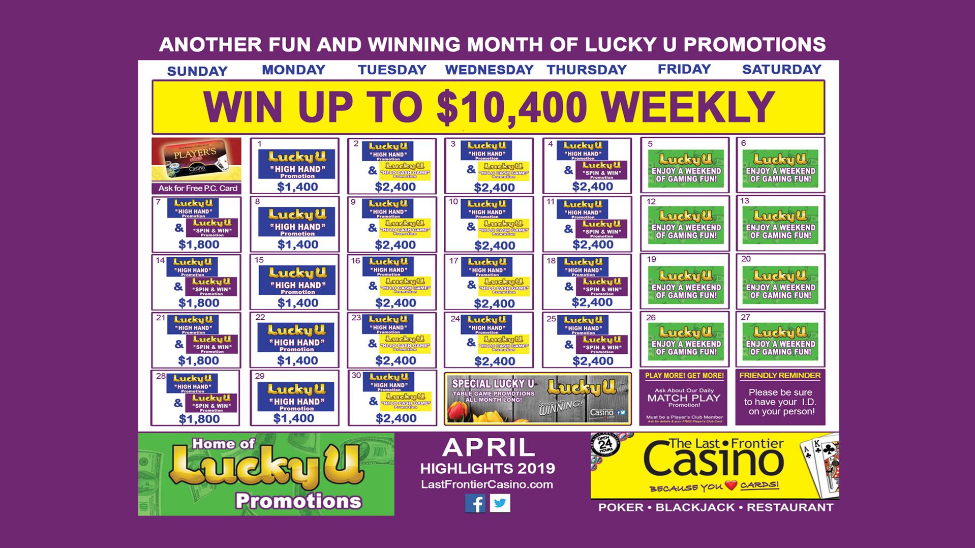 Casino table game promotions harrah s casino carers